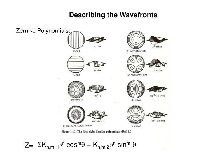 Describing the Wavefronts