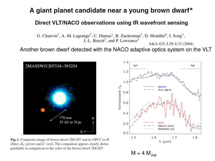 Another brown dwarf detected with the NACO adaptive optics system on the VLT