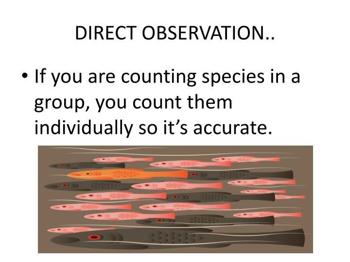DIRECT OBSERVATION..