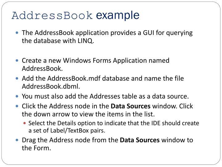 AddressBook