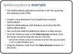 addressbook example