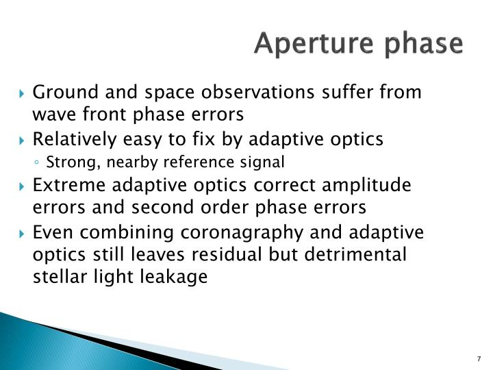 Aperture phase