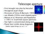 telescope aperture