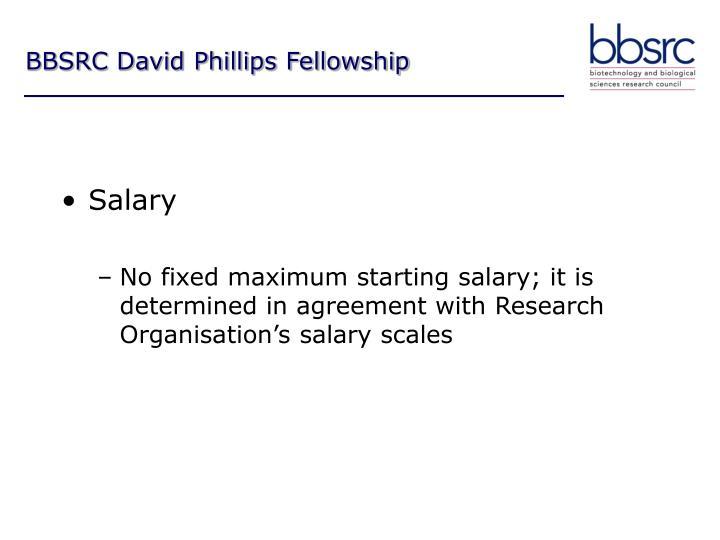 BBSRC David Phillips Fellowship