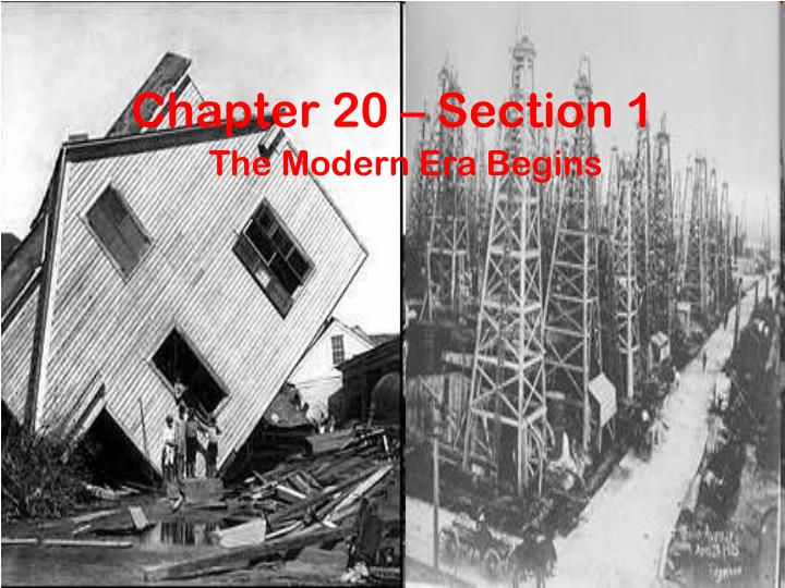 Chapter 20 – Section 1