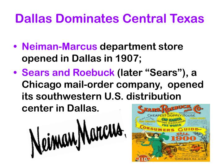 Dallas Dominates Central Texas