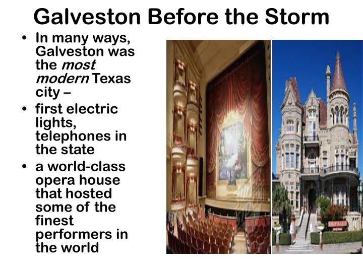Galveston Before the Storm