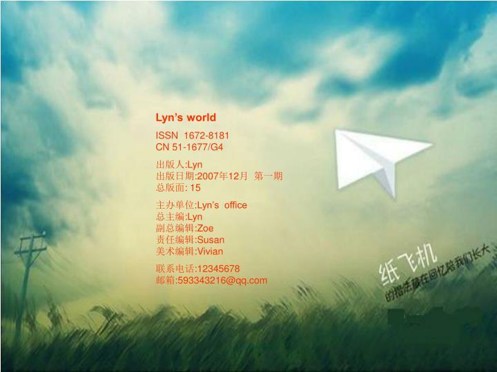 Lyn's world