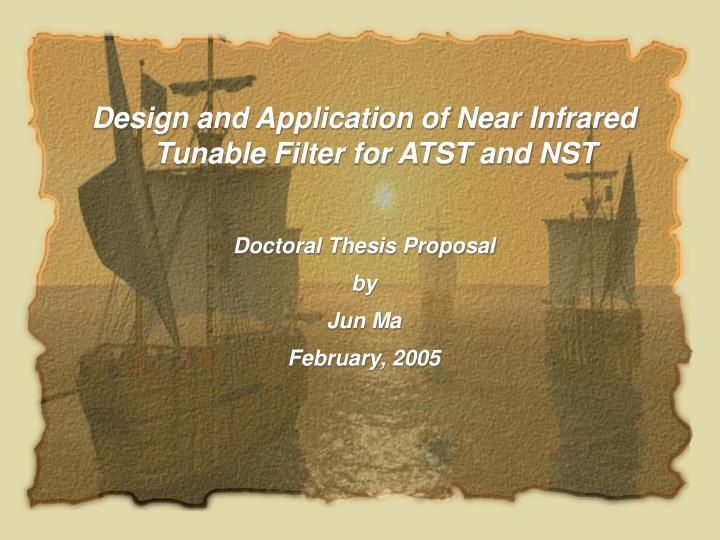 Design and Application of Near Infrared Tunable Filter for ATST and NST