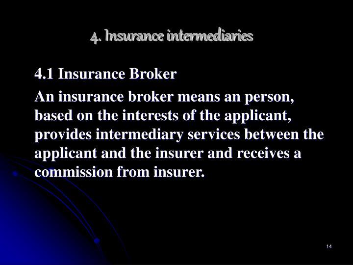 4. Insurance intermediaries