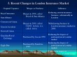 5 recent changes in london insurance market