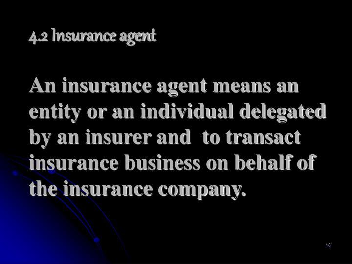 4.2 Insurance agent