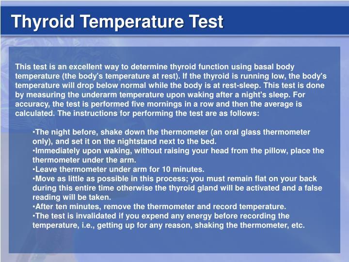 Thyroid Temperature Test