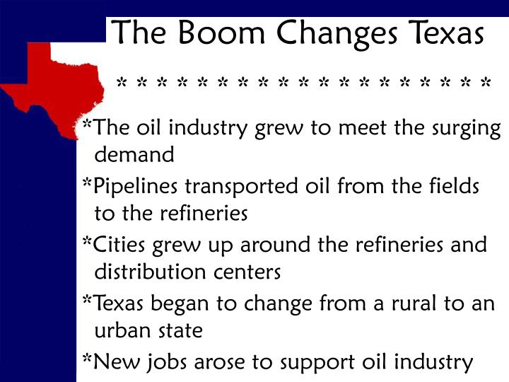 The Boom Changes Texas