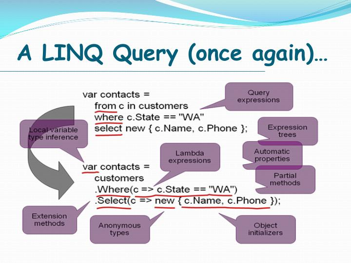 A linq query once again
