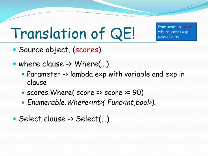 Translation of QE!