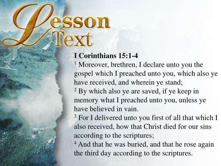 I Corinthians 15:1-4