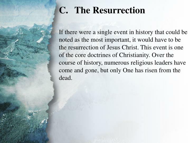 I. The Gospel of Jesus Christ (C)