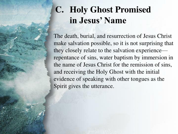 II. Salvation to Be Preached (C)