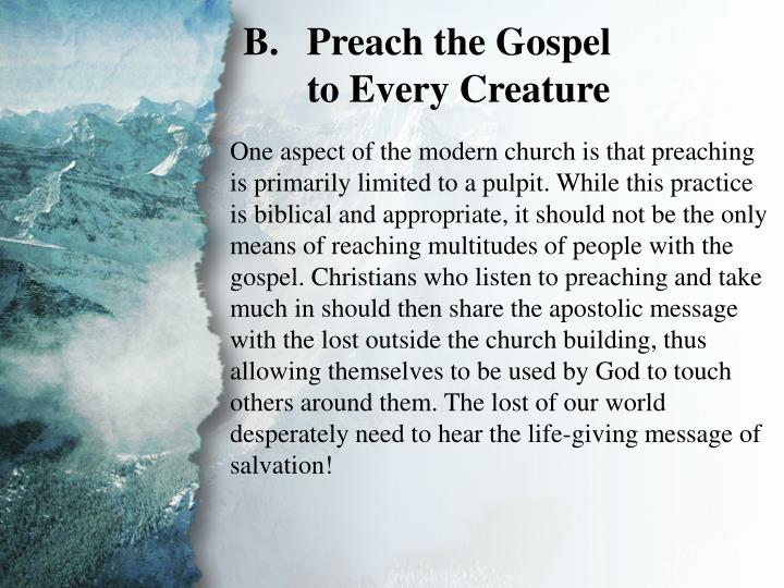 III. The Great Commission (B)