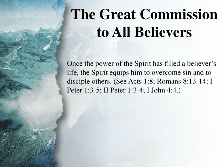 III. The Great Commission