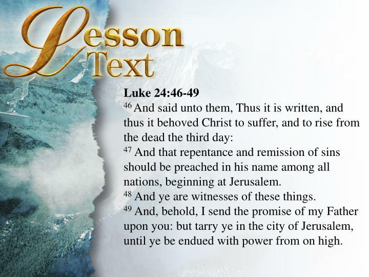 Luke 24:46-49