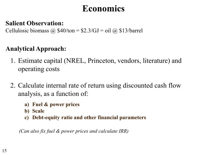 Analytical Approach: