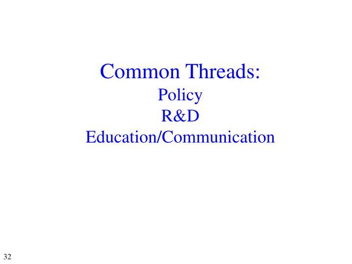 Common Threads: