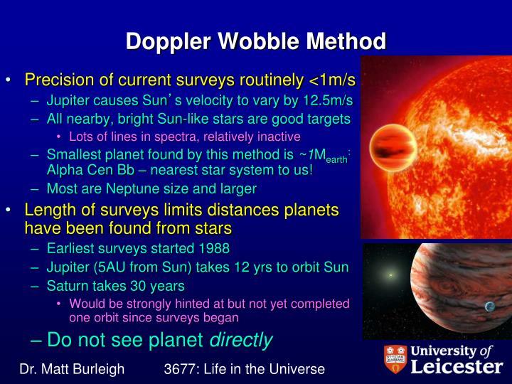 Doppler Wobble Method