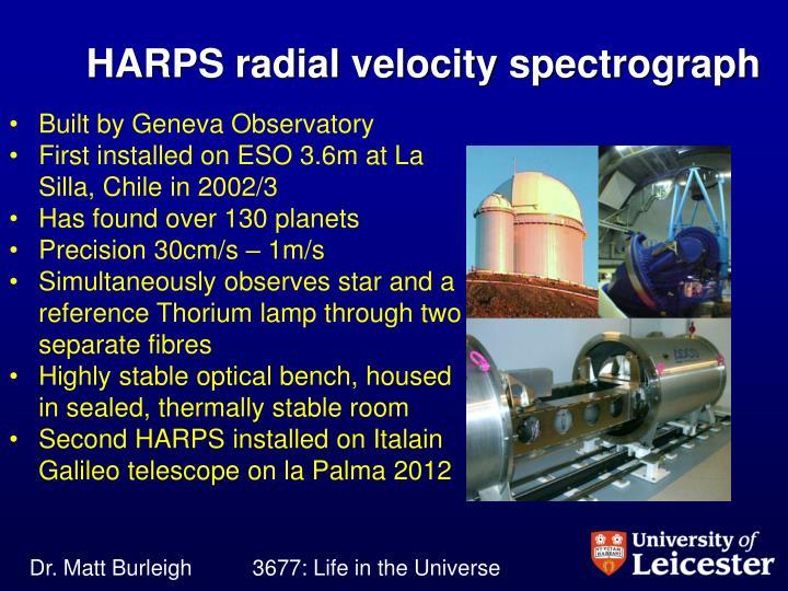 HARPS radial velocity spectrograph