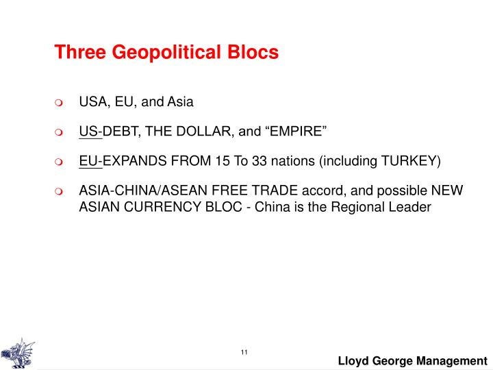 Three Geopolitical Blocs