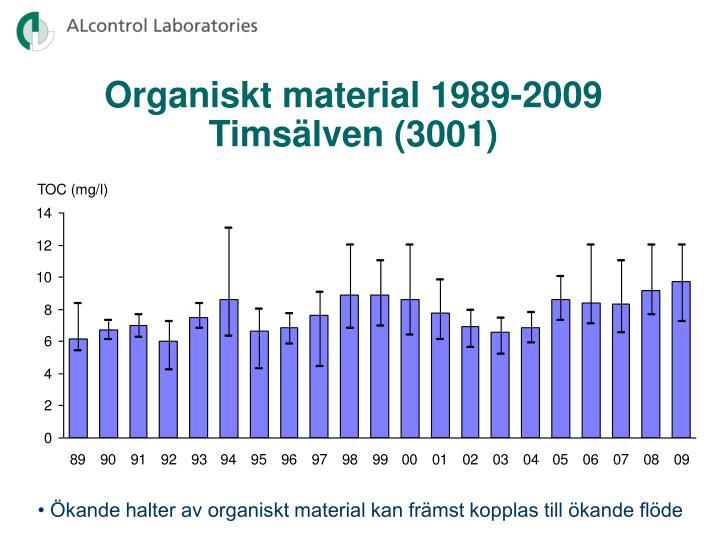Organiskt material 1989-2009