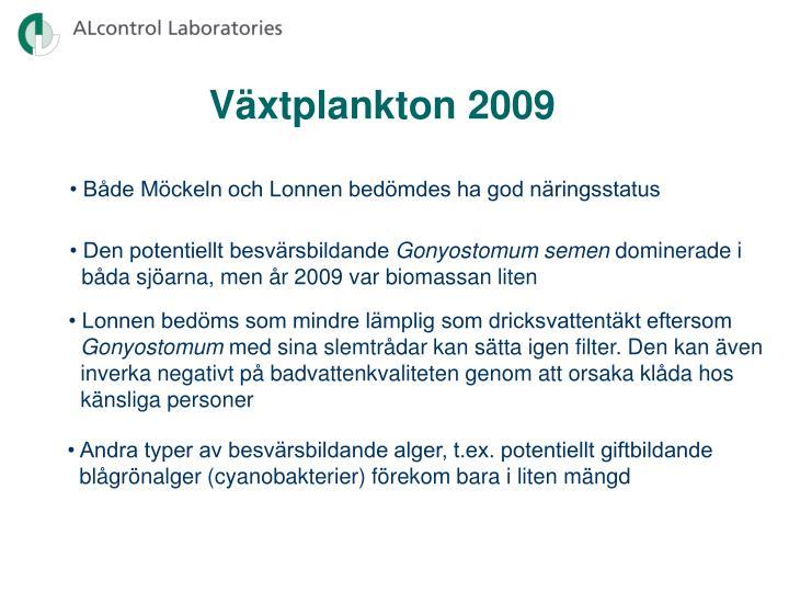 Växtplankton 2009