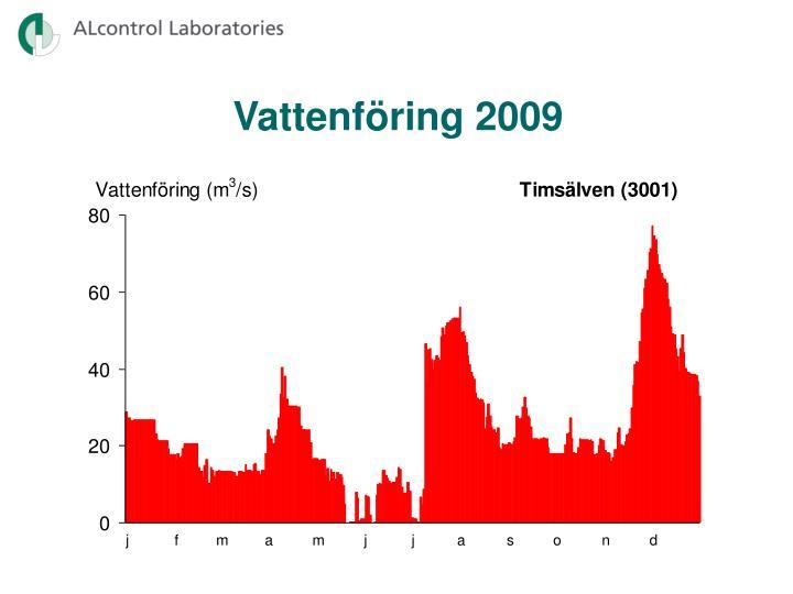 Vattenföring 2009
