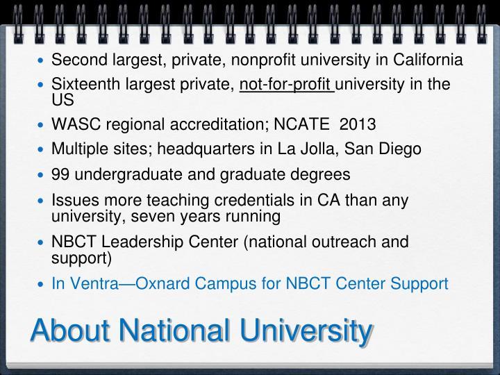 About National University