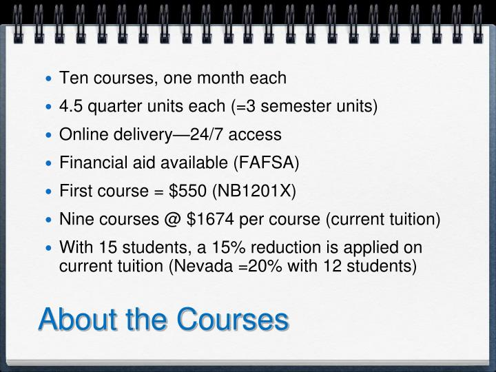About the Courses