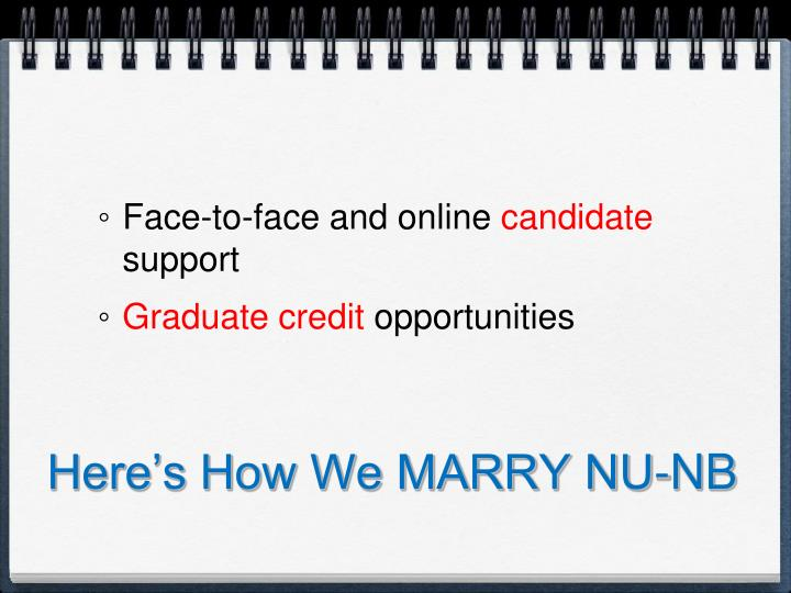 Here's How We MARRY NU-NB