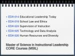 master of science in instructional leadership core courses msil