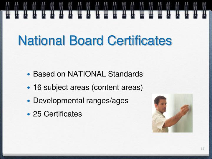 National Board Certificates