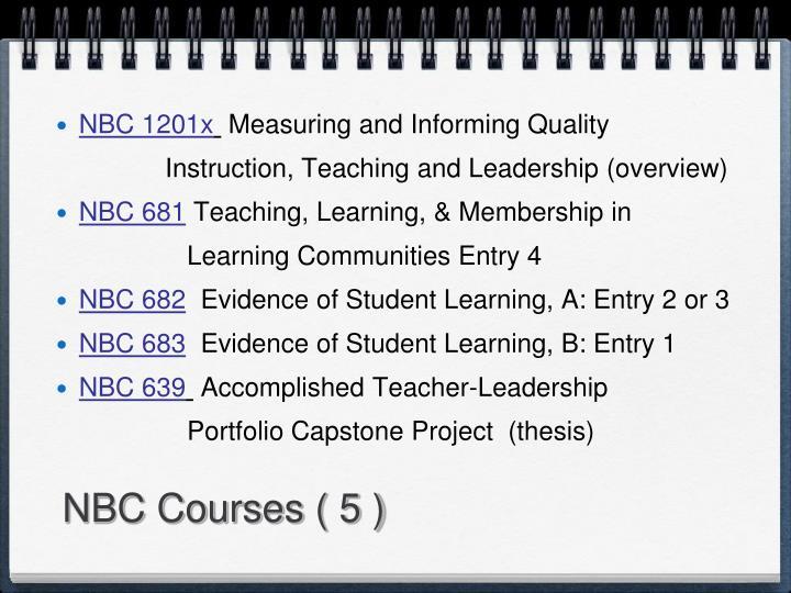 NBC Courses ( 5 )
