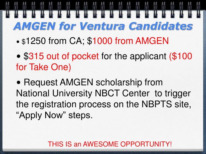 AMGEN for Ventura Candidates