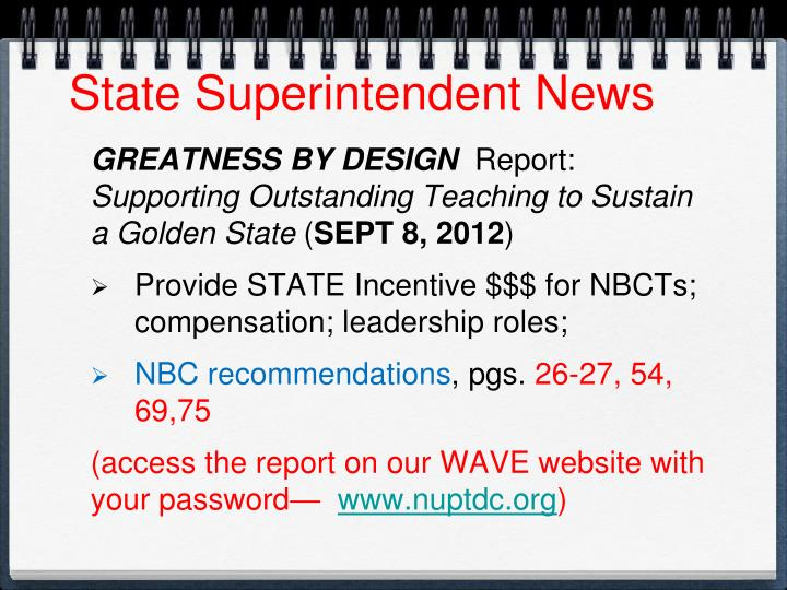 State Superintendent News