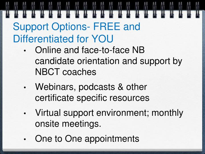 Support Options- FREE and Differentiated for YOU