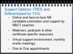 support options free and differentiated for you