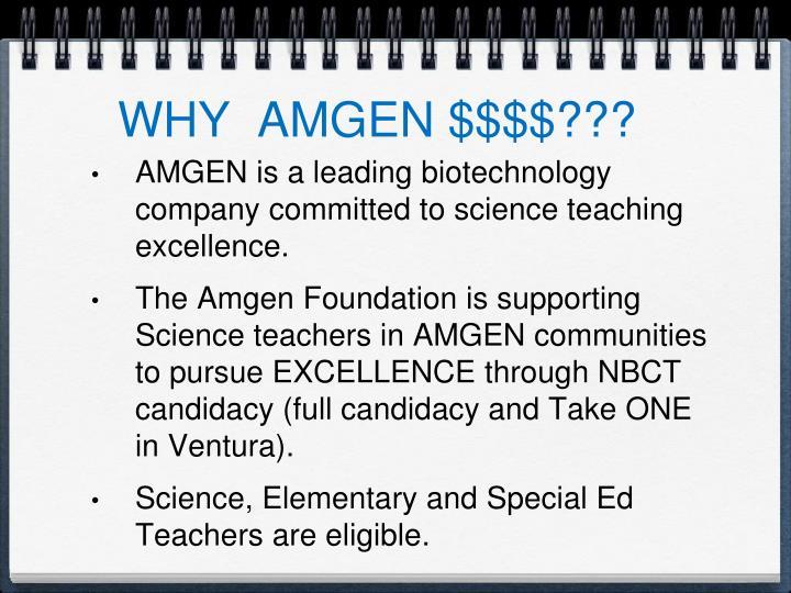 WHY  AMGEN $$$$???