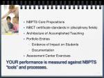 your performance is measured against nbpts tools and processes