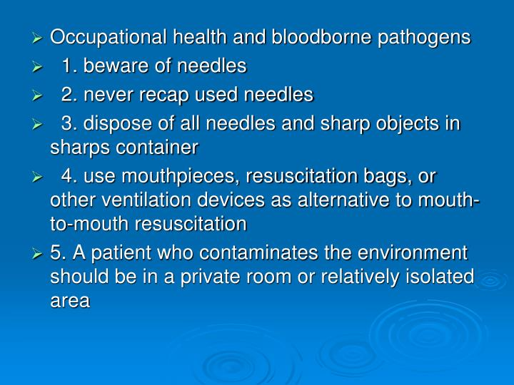 Occupational health and