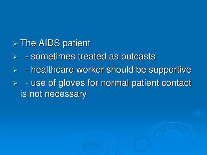 The AIDS patient