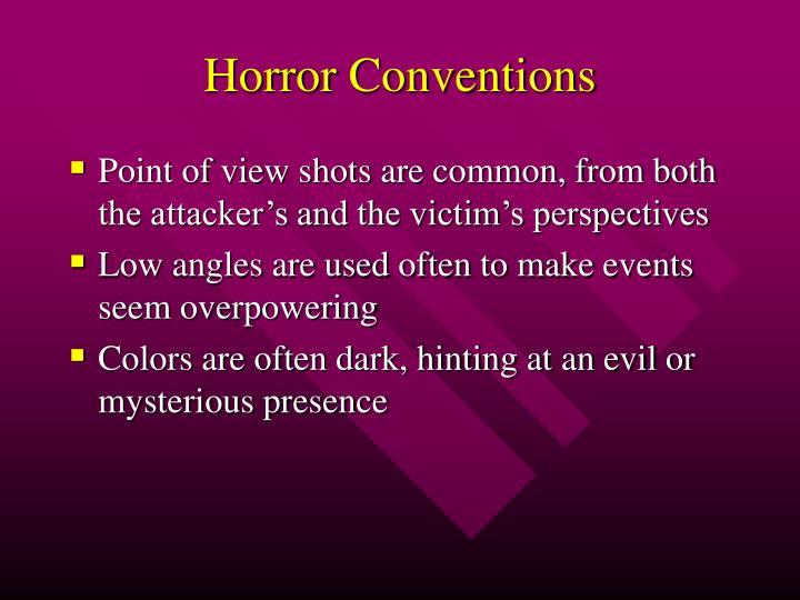Horror conventions