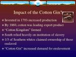 impact of the cotton gin